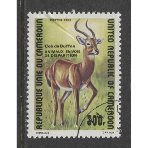 1980  CAMEROUN  300 Fr.  Buffon's Antelope  used, Scott # 679