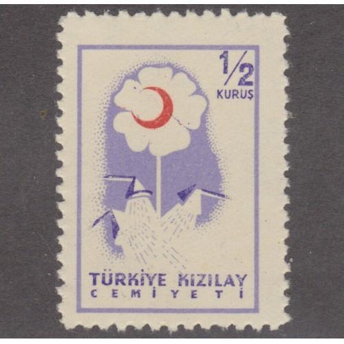 UNUSED/NH TURKEY 1/2 KURUS CHARITY STAMP