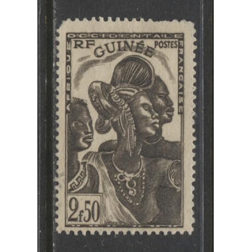 1940  French Guinea   2.50 Fr.  Guinea Women  used ,  Scott # 156
