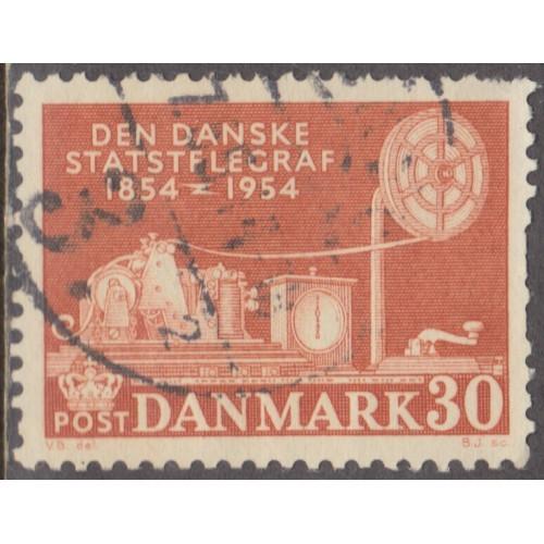 USED DENMARK #352 (1954)