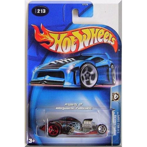 Hot Wheels - 1/4 Mile Coupe: Planet Hot Wheels Wastelanders #213 (2003) *Black*