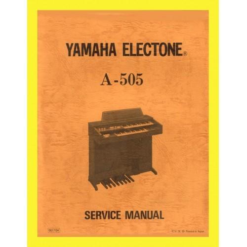 YAMAHA ORGAN MODEL A-505 SERVICE MANUAL