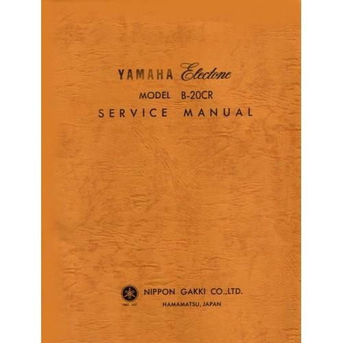 YAMAHA ORGAN MODEL B-20CR SERVICE MANUAL