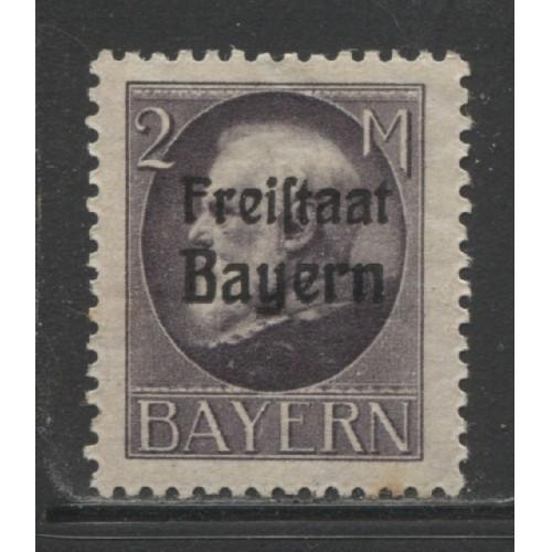 1919 German States  BAVARIA  2 Mark  Ludwig III  with op mint*, Scott # 207
