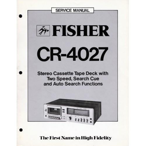 Fisher CR-4027 Cassette Deck Service Manual