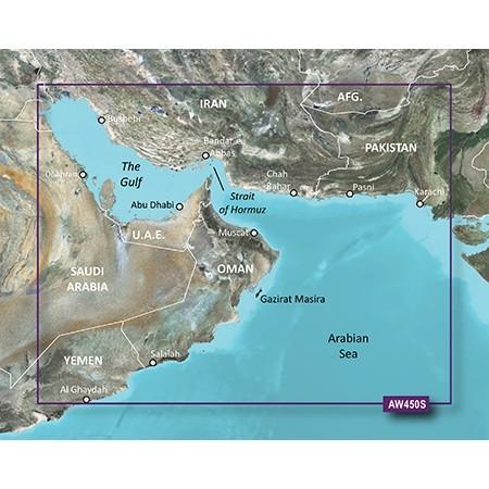 Garmin BlueChart® g2 Vision® VAW450S - The Gulf  010-D0380-00 Marine GPS Map