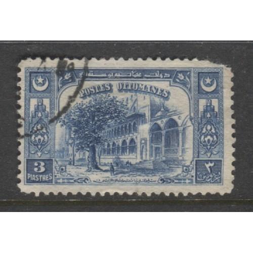 1920 Turkey   3 pi.  Fountains of Suleiman  used,  Scott # 594