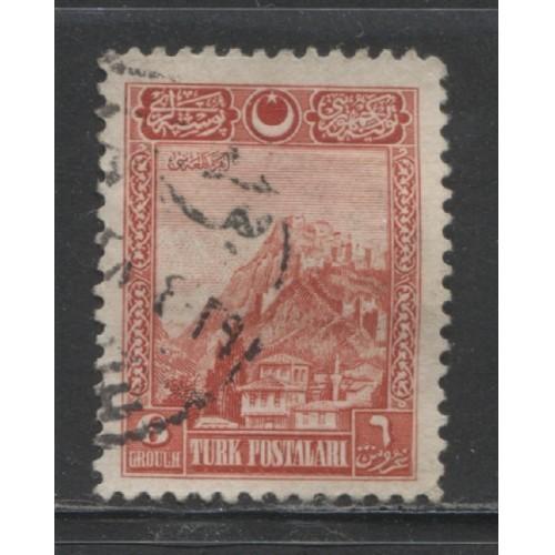 1926 Turkey 6 g.  Fortress of Ankara  used, Scott # 641