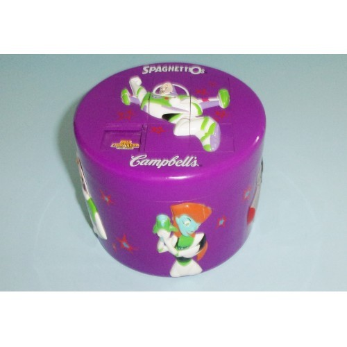 Buzz Lightyear Campbell Spaghettios Bowl With Sliding Puzzle Lid Limited Edition