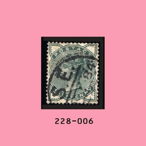 Great Britain #78 Used, ½p Green, Victoria, Fancy Cancel: (SE)