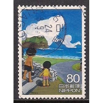 (JP) Japan Sc#  3448f  Used