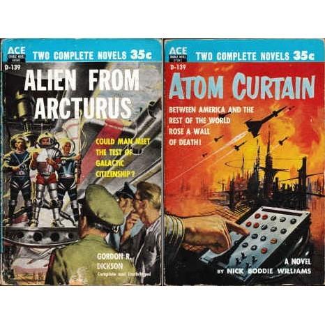 ACE DOUBLE  D-139 Alien From Arcturus / Atom Curtain
