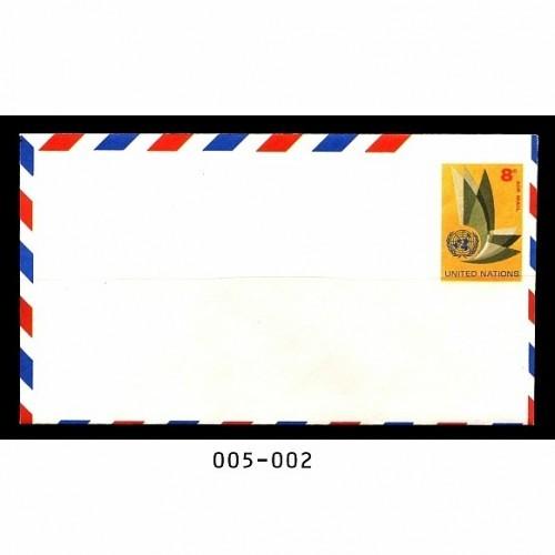 United Nations #UC6 8¢ Mint, UN Emblem Stamped Envelope
