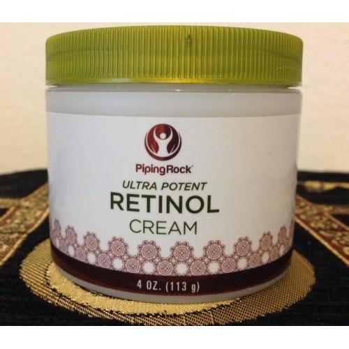 Retinol Cream 4oz Ultra Potent Piping Rock  - 400,000 IU per Jar