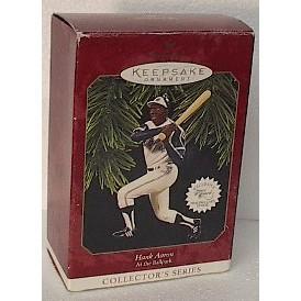 HALLMARK HANK AARON Baseball Christmas Ornament - 9454