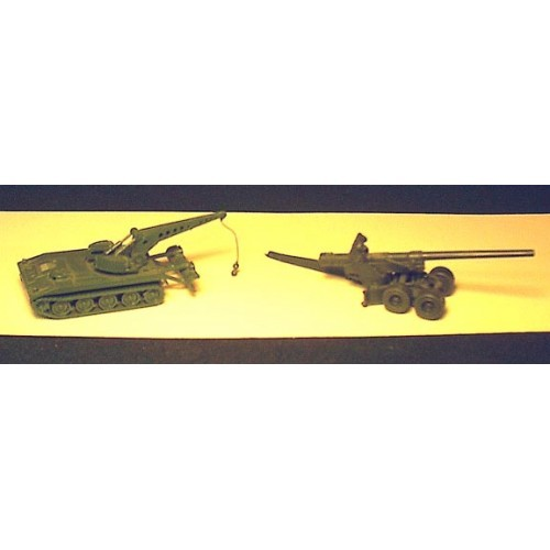 HO Scale US Military Howitzer & US Tank PARTS - 49D