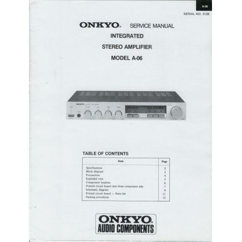 Onkyo - A-06 Amplifier Service Manual
