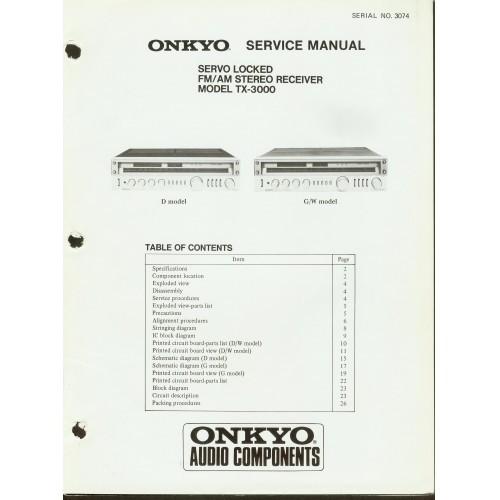 Onkyo - TX-3000 Receiver Service Manual