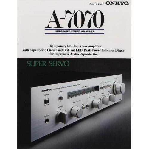 Onkyo A-7070 Amplifier - Sales Brochure