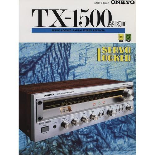 Onkyo TX-1500 MKII Receiver - Sales Brochure