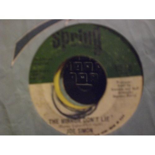 45 RPM: #6610.. JOE SIMON - THE MIRROR DON'T LIE & POWER OF LOVE / SPRING 128 /