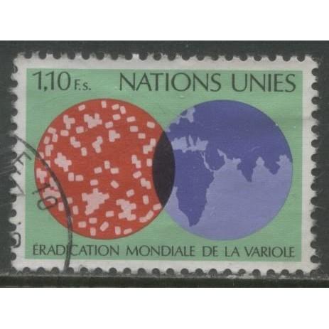 1978  UNITED NATIONS GENEVA  1.10 Fs. Eradication of Smallpox used, Scott # 75