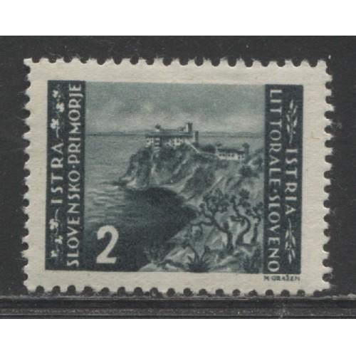 1945 Istria & Slovenian Coast Zone B  2 D.  issue  mint*, Scott # 28