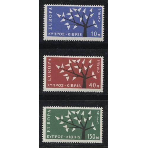 1963 CYPRUS  complete set  EUROPA  issues  mint**, Scott # 219-221