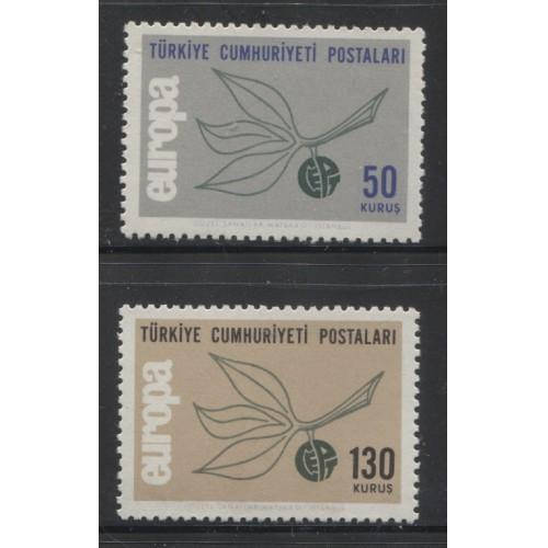 1965  TURKEY  complete set EUROPA issues  mint**, Scott # 1665-1666