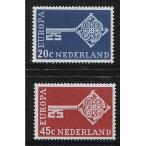 1968  NETHERLANDS  complete set EUROPA issues  mint**, Scott # 452-453