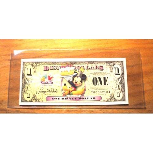 "2009 DISNEY DOLLAR - $1. Mint Condition - MICKEY - ""T"" Series"