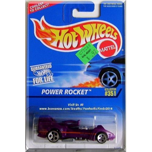 Hot Wheels - Power Rocket: Collector #351 (1995) *Purple Edition / 5 DOT*