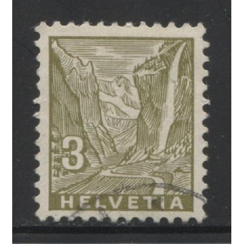 1934  SWITZERLAND  3 c. Staubbach Falls  used, Scott # 219