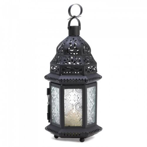 2 -Clear Glass Moroccan Lantern
