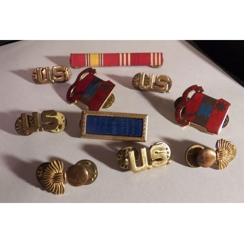 World War II Collectible Pins, Ribbon Bar Lot Collectible Militaria, Military