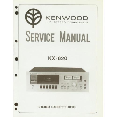 Kenwood KX-620 Cassette Deck Service Manual
