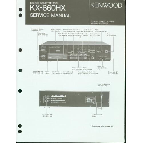 Kenwood KX-660HX Cassette Deck Service Manual