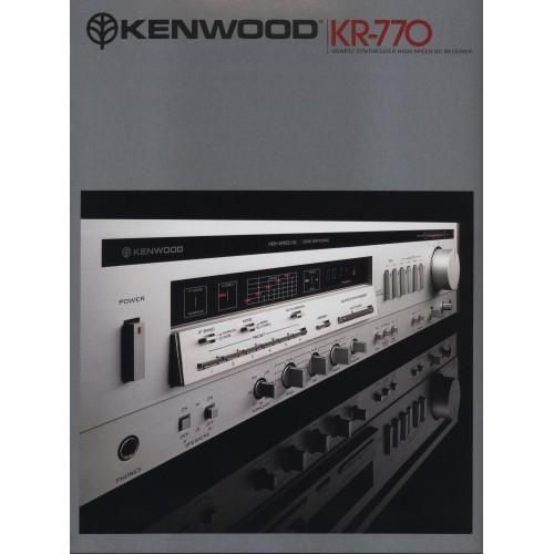 Kenwood - KR-770 Receiver - Sales Brochure -