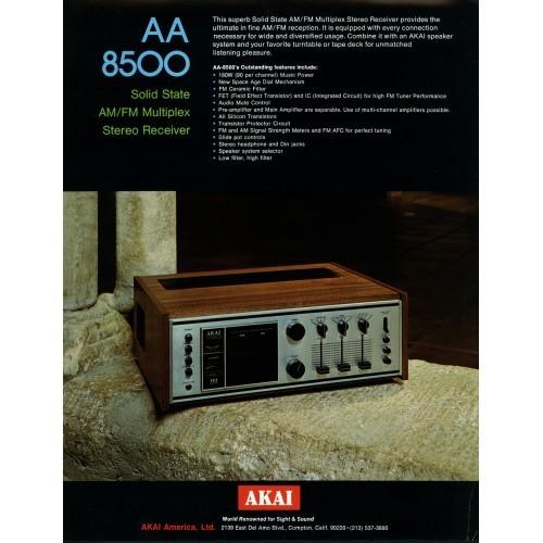 Akai - AA-8500 -  Receiver - Sales Brochure