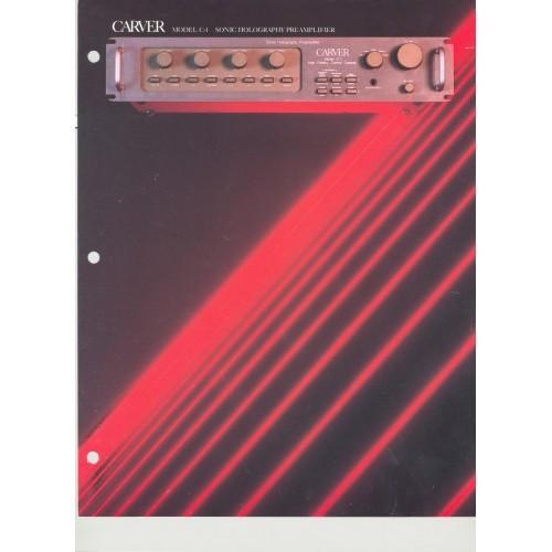 Carver - C-1 Preamplifier - Sales Brochure