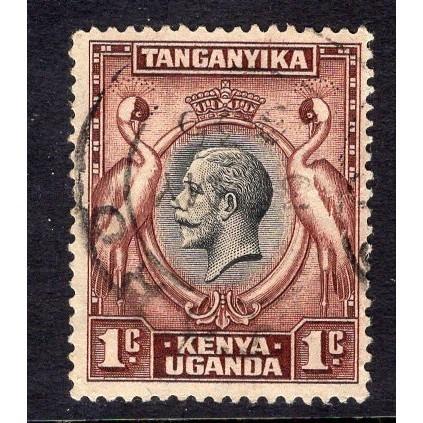 Kenya-Uganda-Tanganyika (1935) Sc# 46 used; CV $1.50