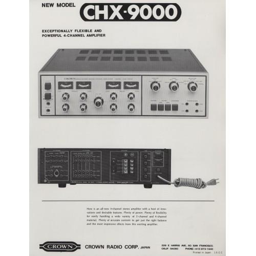 Crown - CHX 9000 Amplifier - Sales Brochure