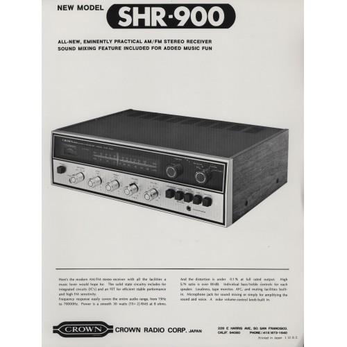 Crown - SHR-900 Receiver - Sales Brochure