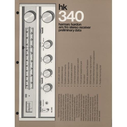 Harman-Kardon - HK-340 Receiver - Sales Brochure