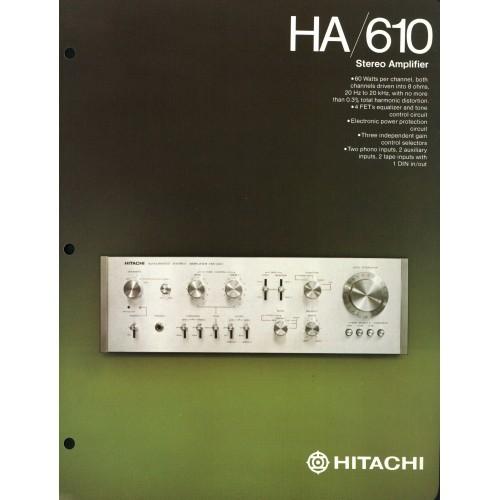 Hitachi - HA-610 Amplifier - Sales Brochure