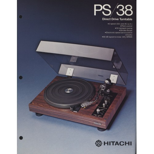 Hitachi - PS-38 Turntable - Sales Brochure