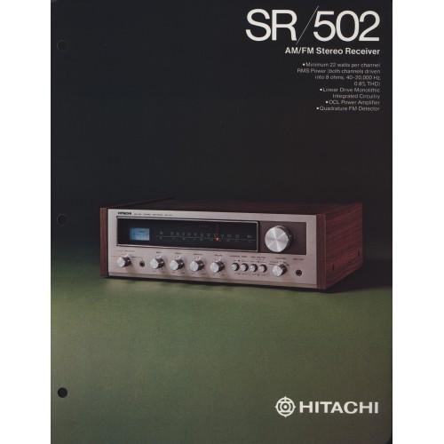 Hitachi - SR-502 Receiver - Sales Brochure