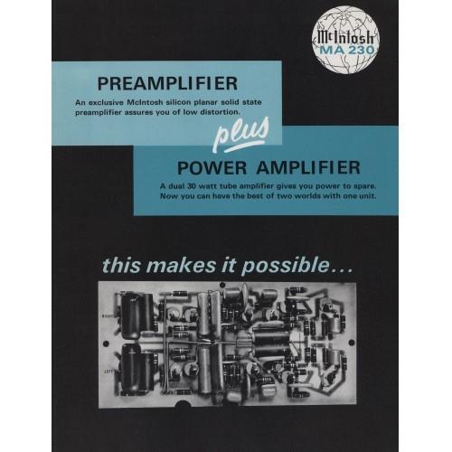McIntosh - MA-230 Preamplifier/Amplifier - Sales Brochure