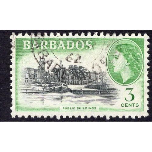 Barbados (1953-57) Sc# 237 (1) used; CV $1.10
