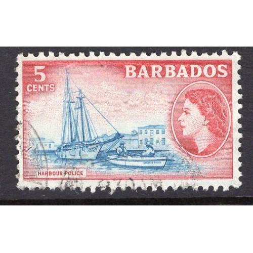 Barbados (1953-57) Sc# 239 (2) used; CV $0.75